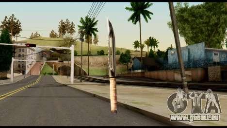 Survival Knife from Metal Gear Solid pour GTA San Andreas deuxième écran