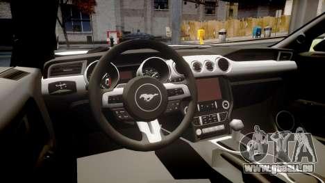 Ford Mustang GT 2015 Custom Kit black stripes pour GTA 4 est une vue de l'intérieur