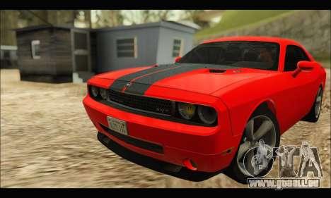 Dodge Challenger SRT-8 2010 v2.0 pour GTA San Andreas