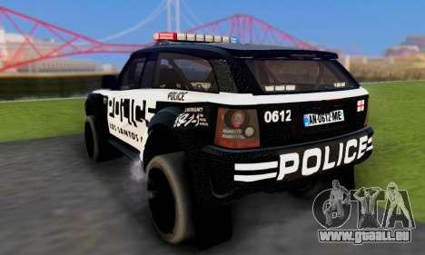 Bowler EXR S 2012 v1.0 Police pour GTA San Andreas vue intérieure