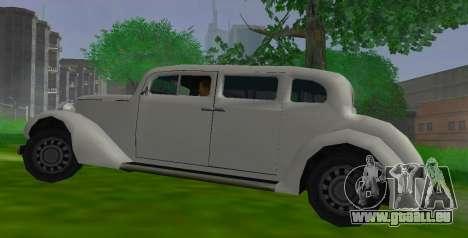 Hustler Limousine pour GTA San Andreas laissé vue
