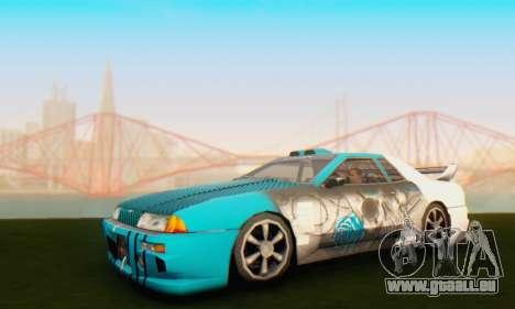 Elegy Skin Paintjob Skull pour GTA San Andreas laissé vue