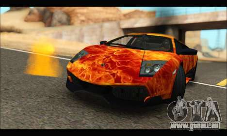 Lamborghini Murcielago In Flames für GTA San Andreas