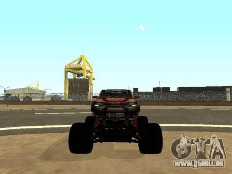 SuperMotoXL Zen MaXXimus CD 17.1 XL-HT pour GTA San Andreas vue de dessus