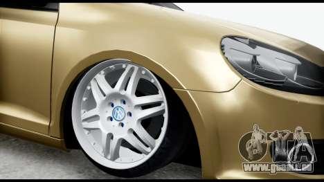 Volkswagen Golf 6 pour GTA San Andreas vue de droite