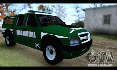 Chevrolet S-10 Gendarmeria pour GTA San Andreas vue de droite