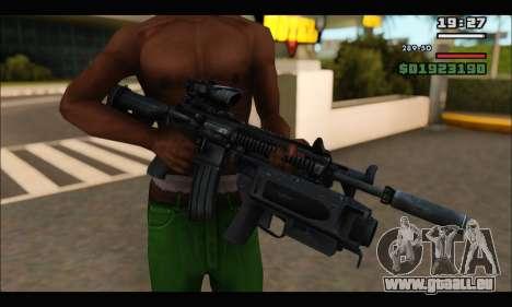HK416 M320 Devgru für GTA San Andreas her Screenshot