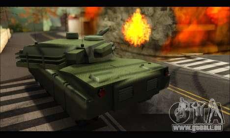 Retextured Rhino Tank pour GTA San Andreas vue de droite
