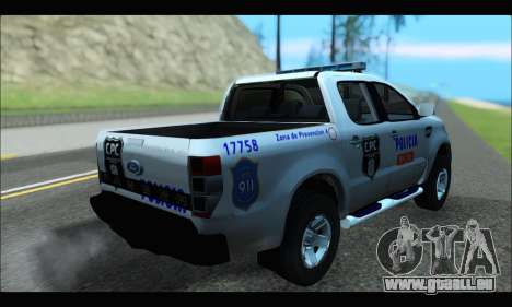 Ford Ranger P.B.A 2015 Text4 für GTA San Andreas linke Ansicht