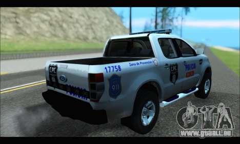 Ford Ranger P.B.A 2015 Text4 für GTA San Andreas linke Ansicht
