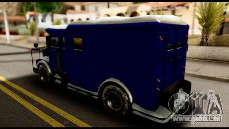 GTA 5 Stockade pour GTA San Andreas sur la vue arrière gauche