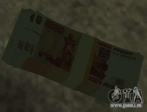 5000 roubles pour GTA San Andreas deuxième écran