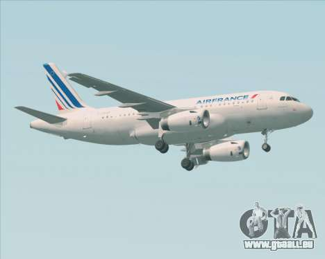 Airbus A319-100 Air France für GTA San Andreas linke Ansicht