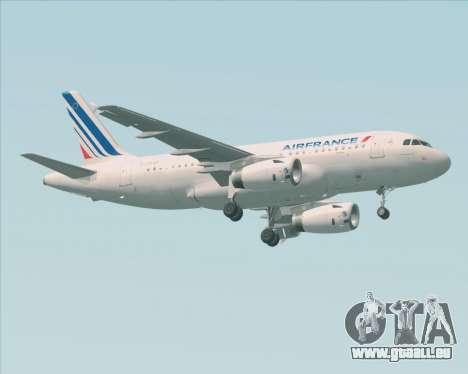 Airbus A319-100 Air France für GTA San Andreas linke Ansicht