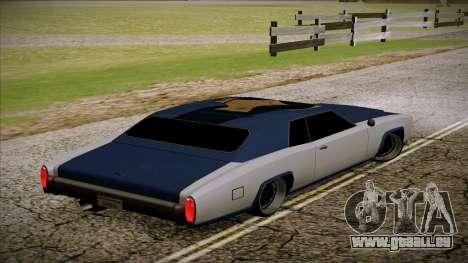 Buccaneer 2.0 für GTA San Andreas linke Ansicht