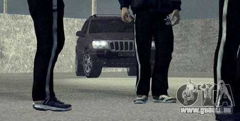 Jeep Grand Cherokee WJ für GTA San Andreas zurück linke Ansicht