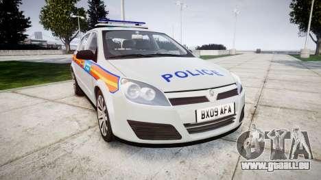 Vauxhall Astra 2009 Police [ELS] 911EP Galaxy für GTA 4