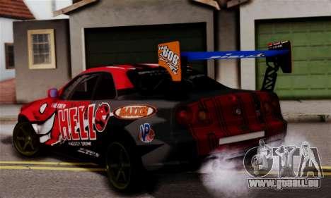 Nissan Skyline R34 HELL DT pour GTA San Andreas laissé vue