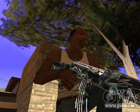 Blue Chrome Weapon Pack pour GTA San Andreas septième écran