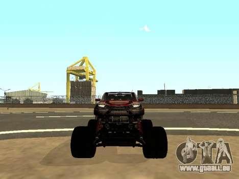 SuperMotoXL Zen MaXXimus CD 17.1 XL-HT pour GTA San Andreas vue de dessous