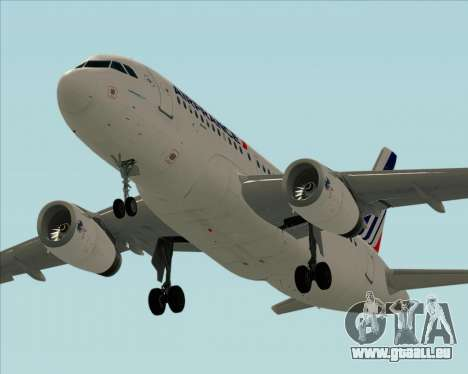 Airbus A319-100 Air France für GTA San Andreas Innen