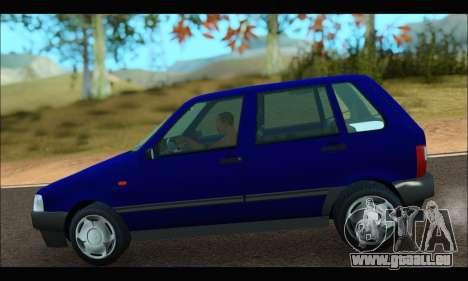 Zastava Yugo Uno pour GTA San Andreas sur la vue arrière gauche
