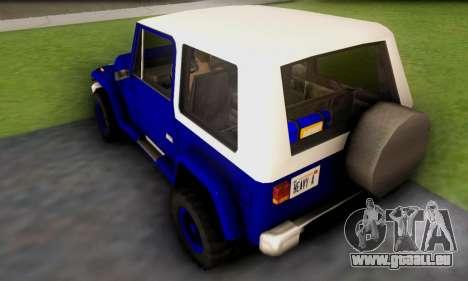 Messa Off-Road Styling pack v1 pour GTA San Andreas sur la vue arrière gauche