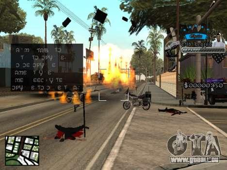C-HUD Old Legend pour GTA San Andreas troisième écran