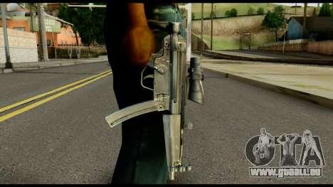 MP5 from Max Payne pour GTA San Andreas troisième écran