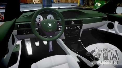 BMW E92 M3 LibertyWalk pour GTA 4 est une vue de l'intérieur