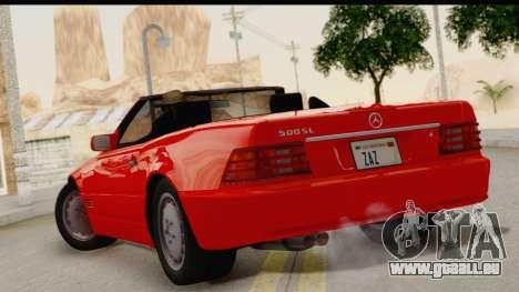 Mercedes-Benz 500SL R129 1992 pour GTA San Andreas laissé vue