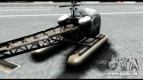 Beta Seasparrow pour GTA San Andreas sur la vue arrière gauche