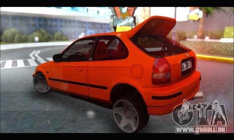 Honda Civic HB (JDM Family) pour GTA San Andreas vue de droite