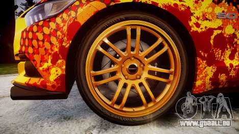 Ford Mustang GT 2015 Custom Kit alpinestars für GTA 4 Rückansicht