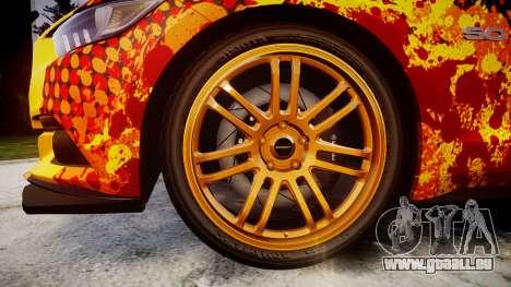 Ford Mustang GT 2015 Custom Kit alpinestars pour GTA 4 Vue arrière
