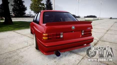 BMW E30 M3 pour GTA 4 Vue arrière de la gauche