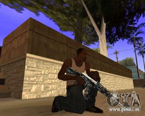 Blue Chrome Weapon Pack pour GTA San Andreas sixième écran
