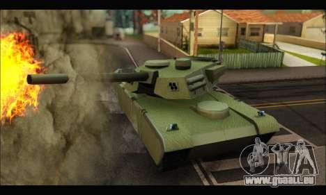 Retextured Rhino Tank pour GTA San Andreas sur la vue arrière gauche