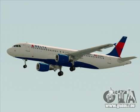 Airbus  A320-200 Delta Airlines für GTA San Andreas Seitenansicht