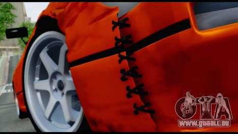 Nissan Silvia S13 Missile pour GTA San Andreas vue arrière
