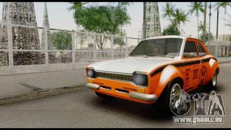 Ford Escort Mark 1 1970 pour GTA San Andreas vue de dessous