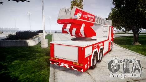 Scania R580 Belgian Fireladder [ELS] pour GTA 4 Vue arrière de la gauche