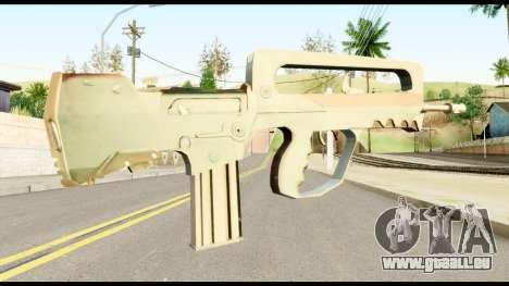 Famas from Metal Gear Solid pour GTA San Andreas deuxième écran