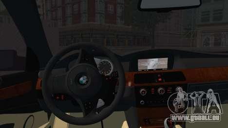 BMW M5 E60 Georgia Police pour GTA San Andreas sur la vue arrière gauche