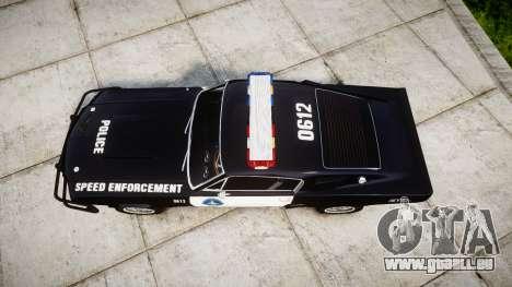Ford Shelby GT500 Eleanor Police [ELS] pour GTA 4 est un droit
