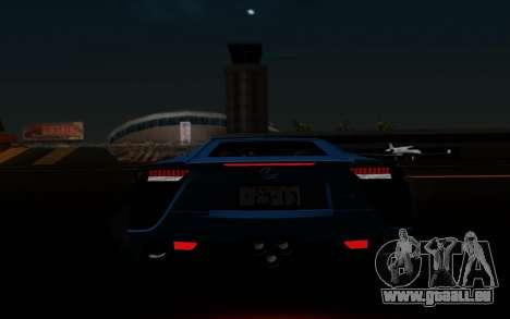 Lexus LF-A 2010 pour GTA San Andreas salon