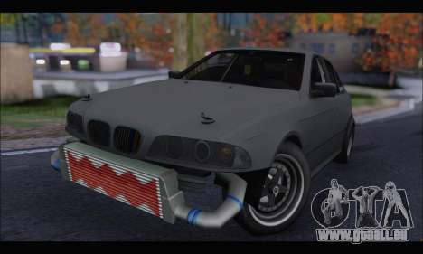 BMW e39 Drag Version für GTA San Andreas linke Ansicht