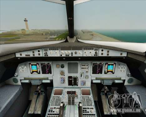 Airbus A320-200 Air India pour GTA San Andreas salon