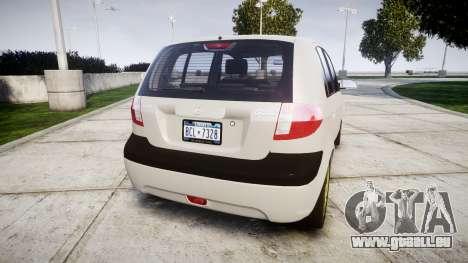 Hyundai Getz 2006 für GTA 4 hinten links Ansicht