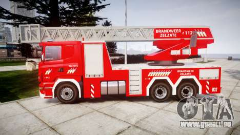 Scania R580 Belgian Fireladder [ELS] für GTA 4 linke Ansicht